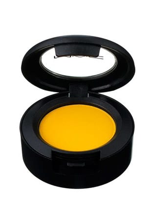 Shop The Shoot Beauty look: A strong brow and Chrome Yellow across eyelids