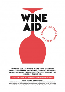 Wine Aid an initiative to support the Australian hospitality industry.