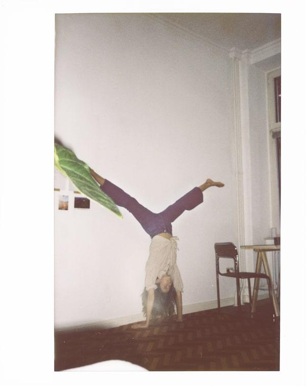 Constanze Saemann doing handstand by Ryan Brabazon