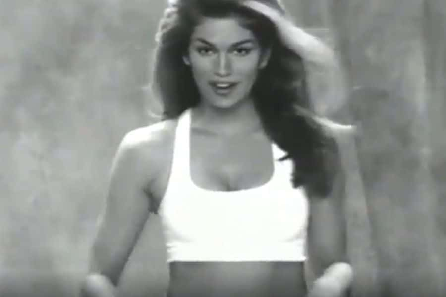 Cindy Crawford 90s at home isolation workout
