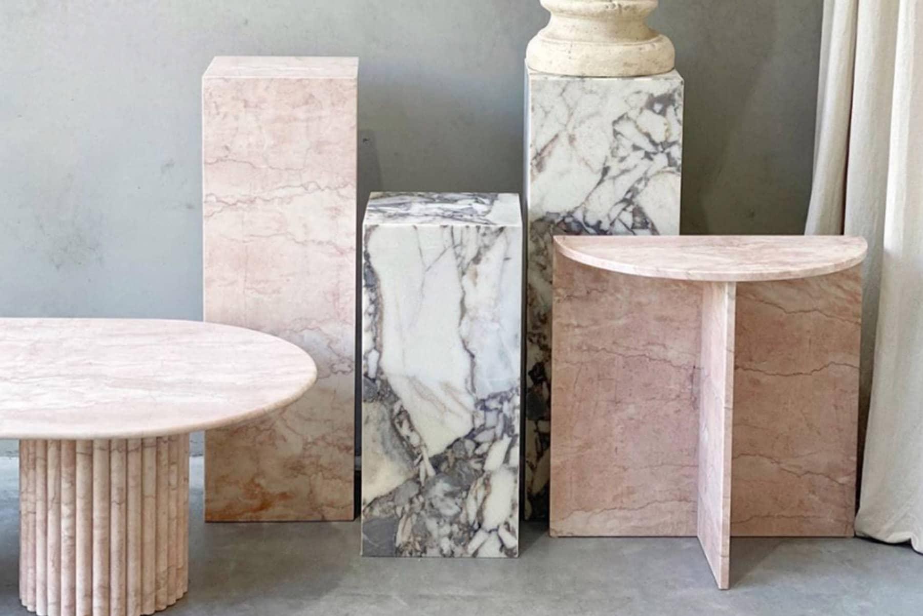 marble plinths