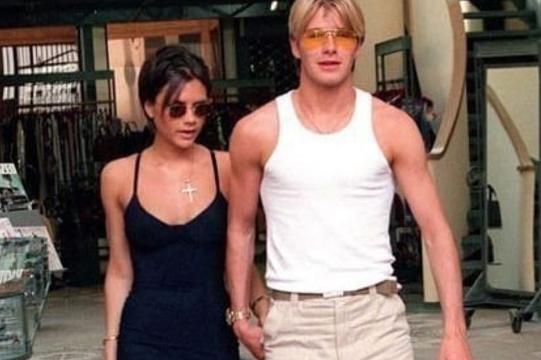 victoria and david beckham's 90s style