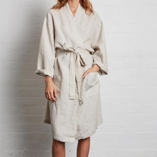 In Bed Linen Robe