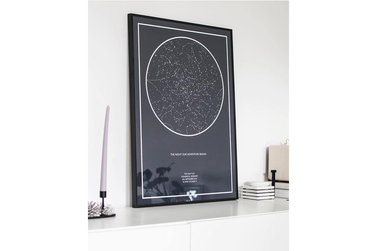 Night Sky Custom Star Chart
