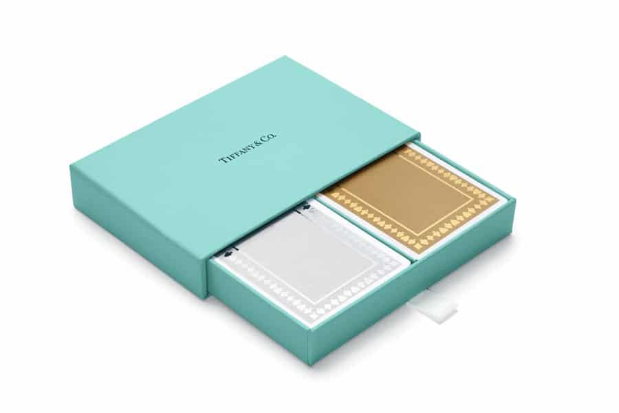 Tiffany & Co. metallic playing cards