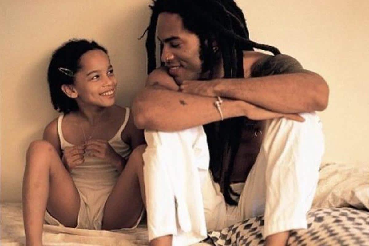 Zoe and Lenny Kravitz